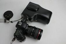 Battery-access leather case bag strap for Canon EOS 6D Mark II, 6D MII, 3 colors