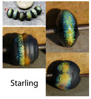 Starling - Handmade Glass Lampwork Beads SRA MTO - Choose Shape