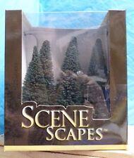 """BACHMANN SCENE SCAPES 5""""-6"""" PINE TREES NO.32001 6PC NIB HO SCALE TREE REPLICA-2E"""