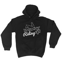 The Voices In My Head Keep Telling Me To Go Horse Riding Funny Joke Pet HOODIE