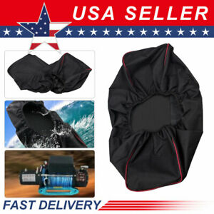 Waterproof Soft Winch Cover Fit For 12,000 lb Winch & Other Winches 8,500-17,500
