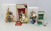 4 Lot Hallmark Club Christmas Cards Kris Jingle Reindeer Five Tiny Ornament TT20