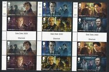 More details for great britain 2020 sherlock holmes  gutter pairs unmounted mint