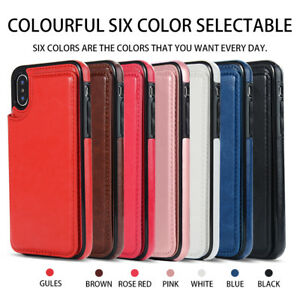 For iPhone X/XR/XS 12 11 Pro Max/6 7 8 Plus Leather Wallet Card Slot Flip Case