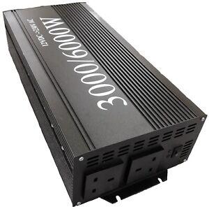3000W 6000W Power Inverter DC 12V to AC 230V soft start Converter