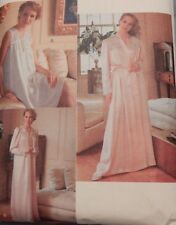 """7653 Vogue Nightie Nightgown & Robe Size L 16/18 Bust 38""""-40"""" Cut & Complete"""