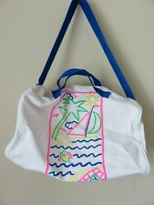 Canvas Bag Beach Gym Sport Grocery Duffle Tote Weekend Vacation Plane Washable