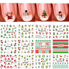 12 Sheet Christmas 3D Nail Art Stickers Snowflakes & Cute Snowmen Nail Decals ..