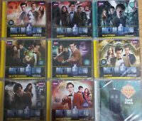 DOCTOR WHO COLLECTION - 9 AUDIO BOOK CD's - NEW (couple unsealed)
