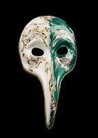 Maschera Turco Di Venezia A Lunghi Naso Day Night Veneziano Verde Vg18 1514