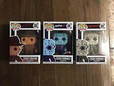 Funko Pop 8-bit Set of 3! Jason NES colors, Jason,Freddy Gamestop Exclusive New!