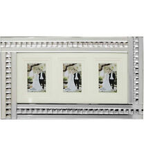 Elegant Mirrored Glass Crystals silver Photo Frame/ 6X4 OR 7X5 OR 8X6 SIZE PHOTO