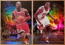 Michael Jordan, Scottie Pippen 96-97 Flair Showcase Row 1 Insert (2) Card Lot