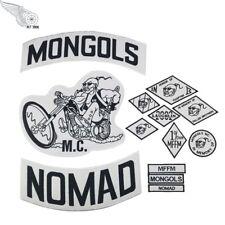13PCS/ SET MONGOLS NOMAD Biker Vest Embroidered Patch 1% MFFM IN Memory