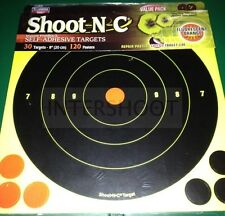 "BIRCHWOOD Casey Shoot N C obiettivi 8 "" 30 Pack + EXTRA FUCILE PISTOLA ecc."