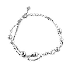Original 925 Sterling Silber glänzend 10mm Kugel Perlen Kreis Plain Runde Halskette
