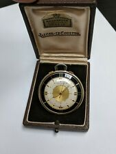 Antique Jaeger Lecoultre Memovox Date Pocket Watch Gold Plated Case 42 Mm In Diameter At All Costs