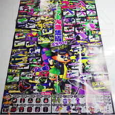 SPLATOON 2 ALL WEAPONS FOLDED POSTER 29x20 NINTENDO SWITCH Japan limited rare