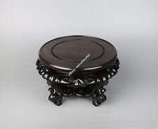 wooden display stand black Hei-zhi wood China Antique style round ebony base