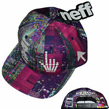 Neff Death Of The Internet Cap 6 Panel Snap Back Graphic Cap Hat Sz OS