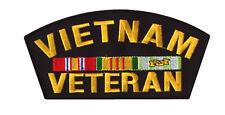 "Black 6"" Vietnam Veteran Army Military War Hat Shirt Jacket Memorial Day Patch"