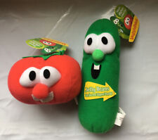 VeggieTales Tomato Bob and Cucumber Larry Plush with Jelly Beans Lot