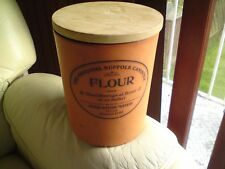 Henry Watson Pottery Original Suffolk Flour Storage Jar. Large 27 CMS APPROX.