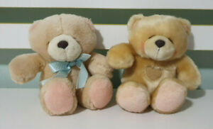 HALLMARK FOREVER FRIENDS SOFT TOY PLUSH TOYS X2 LOVEHEART ON CHEST BLUE BOW