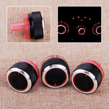 3x Heater  A/C Dials Knob Button Switch Cover Fit For Peugeot 206 207 Citroen C2