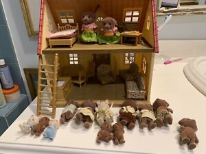 Calico Critter Lot With House And Figures