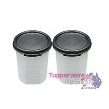 Tupperware 2 Pcs Modular Mates Round II Set Black Lid MM Round II 440ml-New