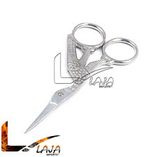 """3.5"""" Silver Plated Embroidery Scissors Sewing Shears Bird Design"""