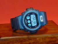 Pre-Owned Men's Clear Blue Casio G-6900EB G-Shock Digital Watch