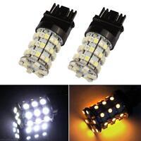 3157 Dual Color Switchback White/Amber LED 60-SMD Turn Signal Corner Light Bulbs