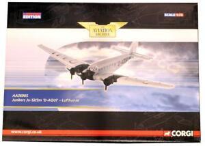 CORGI 1:72 SCALE AA36905 JUNKERS JU-52/3M 'D-AQUI' LUFTHANSA