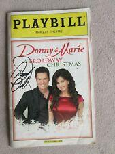 Donny Osmond Autograph on Playbill 2010 Christmas Show