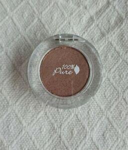 100% PURE 100 PERCENT Pressed Eyeshadow ST. TROPEZ Cinnamon Brown Shimmer £19