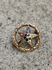 Vintage 10K Order of the Eastern Star Cutout Lapel Pin
