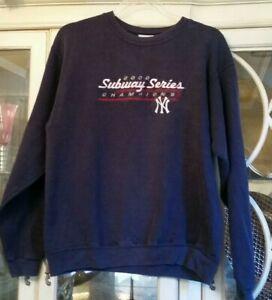 New York Yankees Subway Series 2000 Champions Swearshirt M Blue Lees Sport
