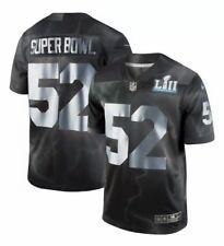 4cd005b7 Nike NFL Super Bowl LII 52 Men's Size Large Black Silver Limited Edition  Jersey