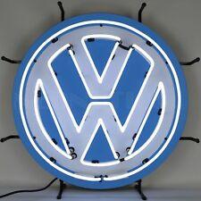Volkswagen Retro Logo Button Neon Sign - Beetle - Bus - VW - Dealership - Sales