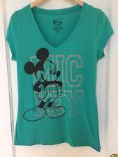 Disney t shirt xl Teal Mickey 60 % Cotton 40% Polyester
