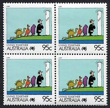 1988 Living Together Law SG1135 Block of Four MUH Mint Stamps Australia