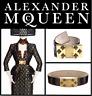 Alexander McQueen Tortoiseshell Patent Leather Crystal Bee Buckle Belt, 70-28