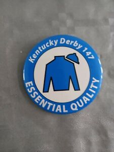 KENTUCKY DERBY 2021  HORSE RACING- ESSENTIAL QUALITY- BUTTON BADGE- RARE!
