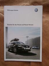VW Passat +Variant Zubehör B6 Typ 3C Brochure Katalog Catalogue Rarität 9/2009