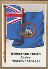 DRAPEAU British Empire britannique Ceylon Government Sri Lanka FLAG CARD 30s