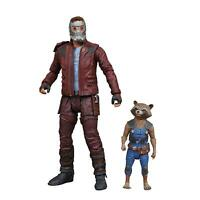 Guardians of Galaxy 2 Star-Lord & Rocket Marvel Select Comic Action Figures