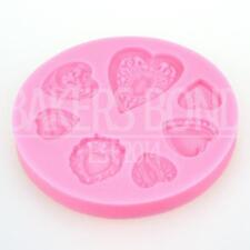 7 Heart Shaped Silicone Mould Romantic Wedding Chocolate Cake Baking Icing ice
