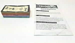 TRIOPOLY  Inaugural Edition Game - Replacement Parts  - MONEY - Free shipping